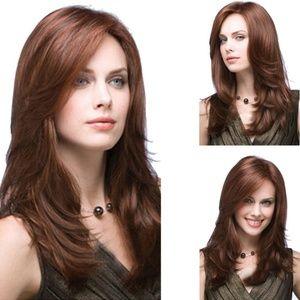 Brown Long Curly Wig